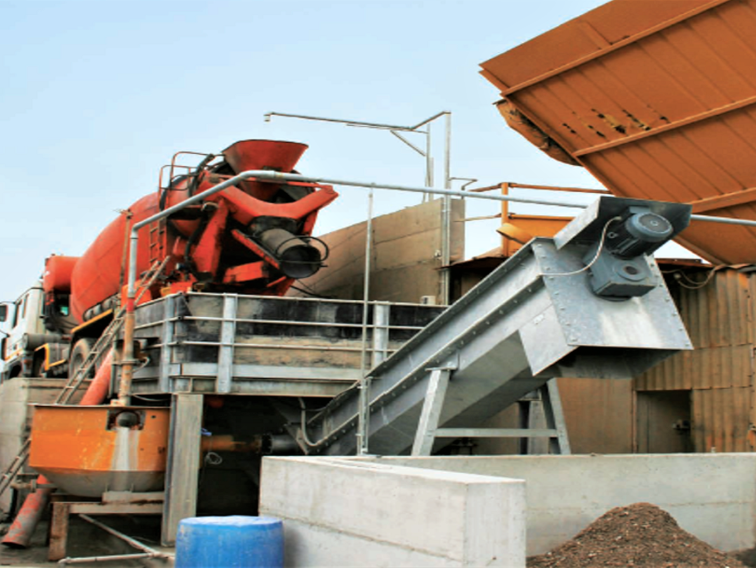 Sistema de reciclado de hormigón