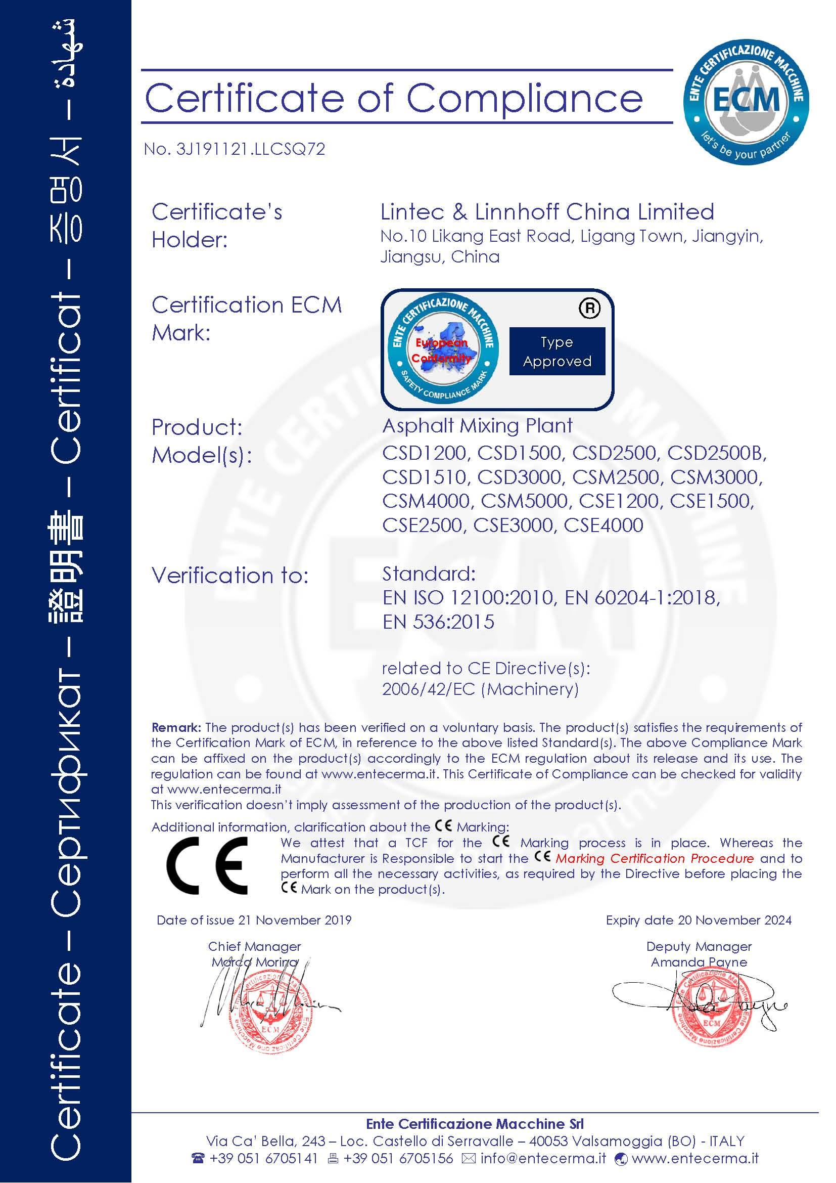 Ente Certificazione Macchine
