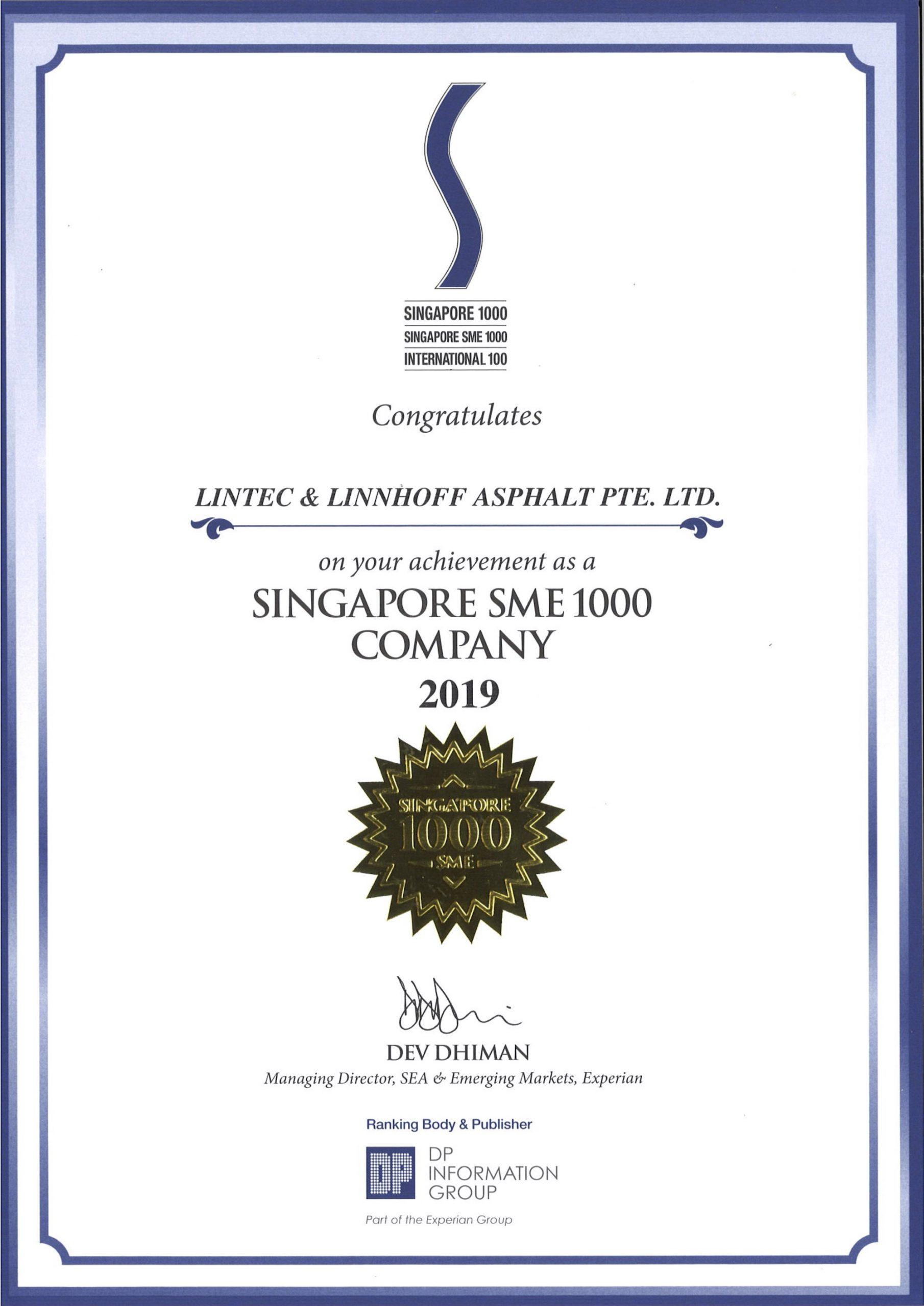 Singapore SME 1000 Company