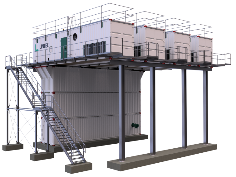 LEA Containerized Ice and Chilled Water Plant