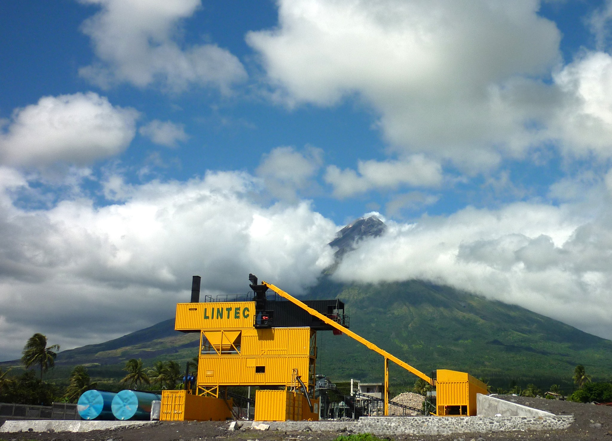 Project in Mount Mayon, an Active Volcano