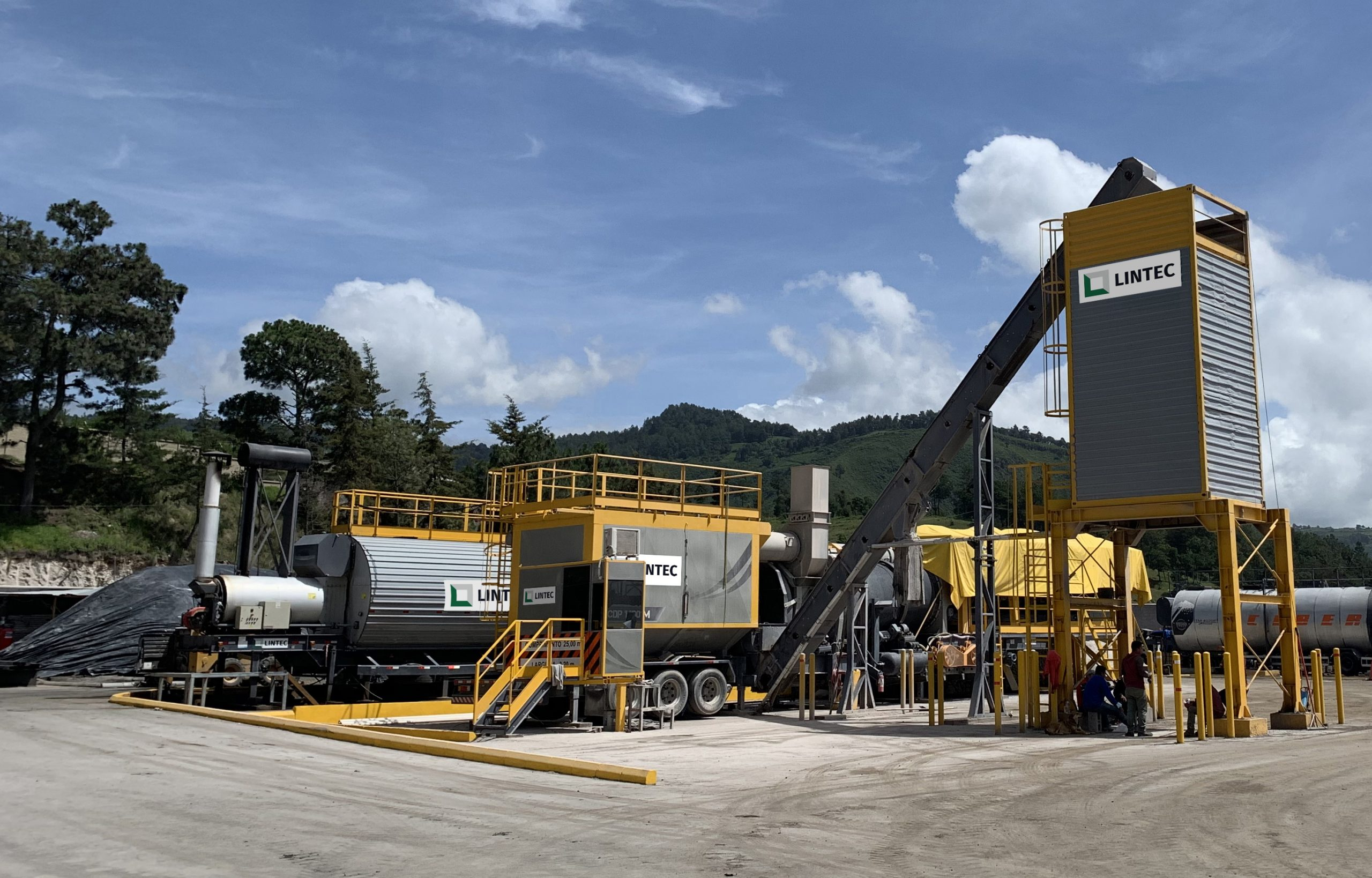 Second Lintec asphalt mixing plant delivered to Aspetro in Guatemala