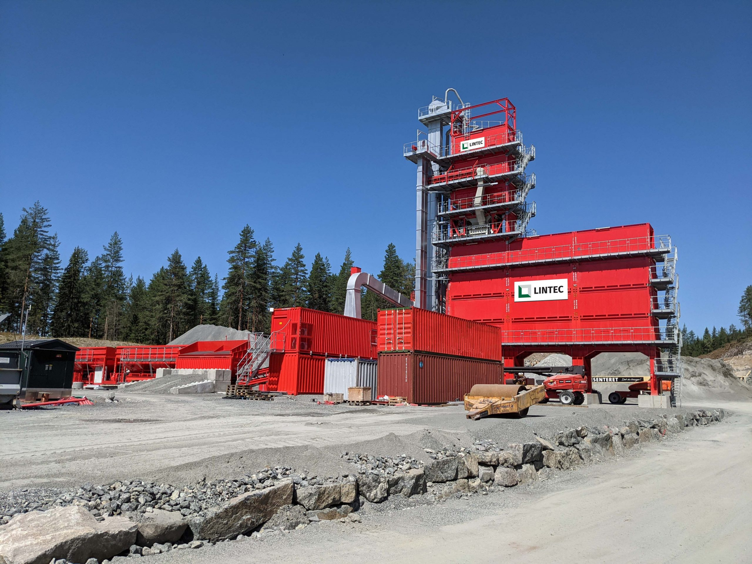 Lintec asphalt plant used by BRANI for local projects in Norway