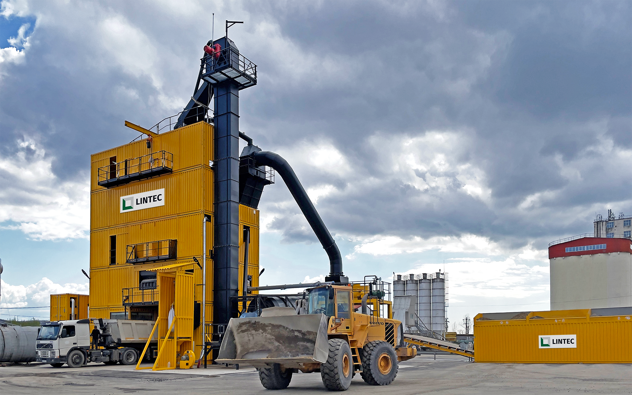 First Lintec CSM 3000 asphalt plant in Romania supports growing demand for roads